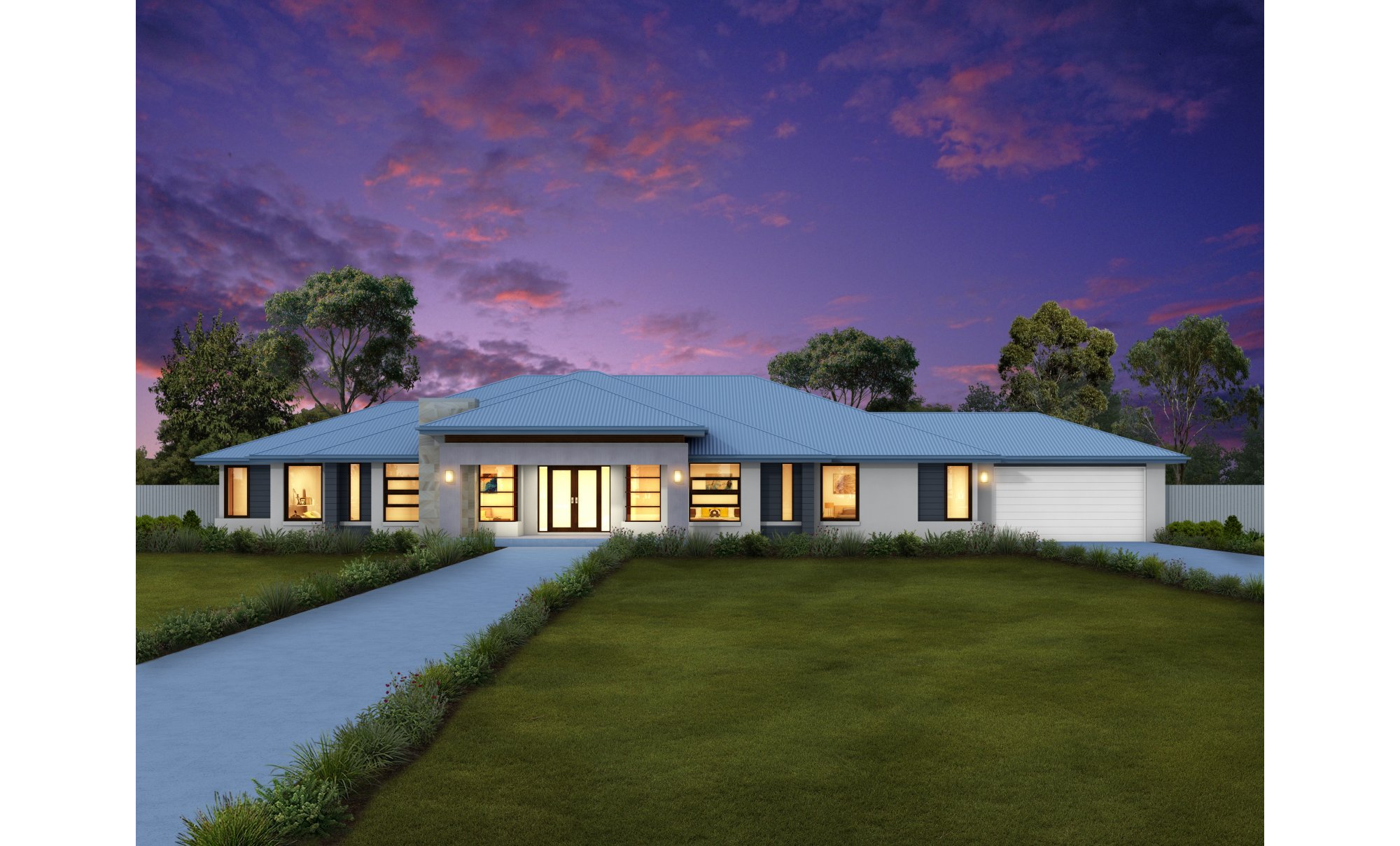 Maitland 40 home design clarendon homes for Acreage home designs nsw