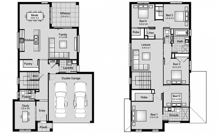 Paddington house floor plan by Clarendon Homes that has good feng shui