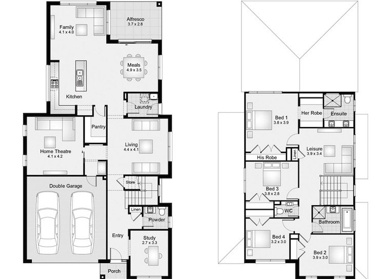 Ferndale house floor plan by Clarendon Homes that has good feng shui