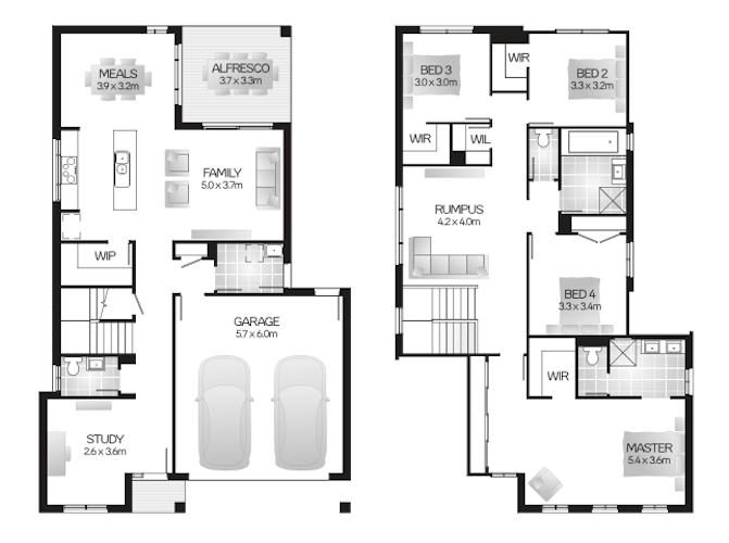 two storey family house plans Clarendon QLD