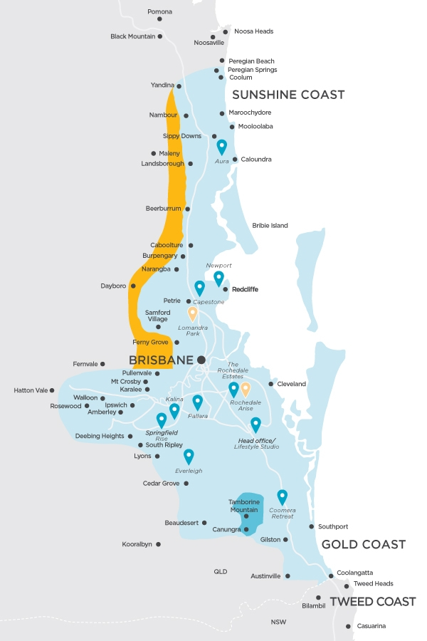 Where We Build New Homes in QLD - City Area